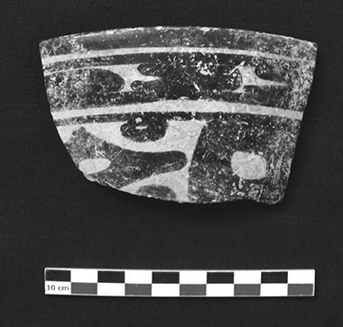 Figure 11. Balam III potsherd with possible representation of a star glyph (Photograph by author).
