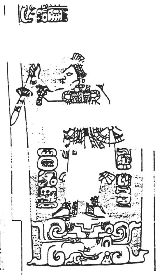 Figura 7. Jamba noreste del Templo 18 de Copán (Grube y Schele, 1990).