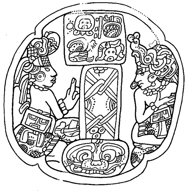 Figura 5. Cráneo de Pecarí de la Tumba 1 de Copán. Tomado de Stuart, 1996: 156.