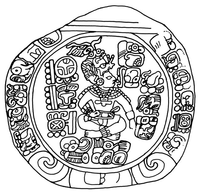 Figura 6. Altar L de Quiriguá.Tomado de Martin y Grube, 2008: 217.